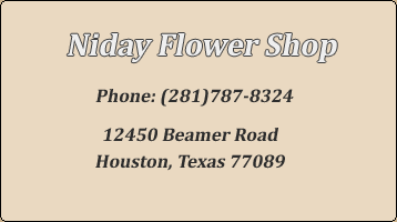 Flower Shop Contact Information